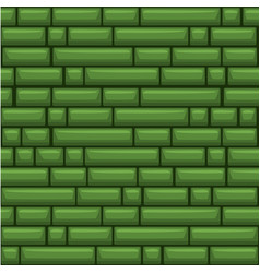 Seamless texture placing green stone wall vector