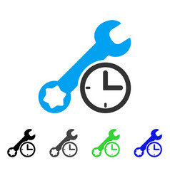 Service time flat icon vector