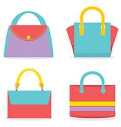 Set Of Colorful Women Bags vector image vector image
