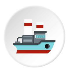Small ship icon circle vector