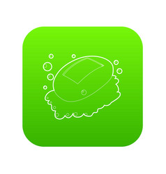 soap icon green vector image