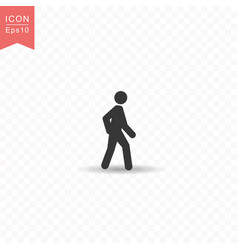 stick figure a man walking silhouette icon simple vector image