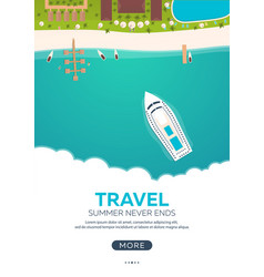 summer travel banner sea travel summer time vector image