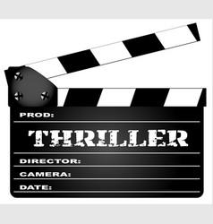 Thriller clapperboard vector