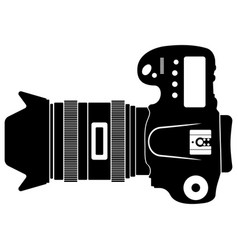 top view at dslr camera vector image