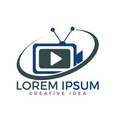 Tv media logo design video cam sign vector