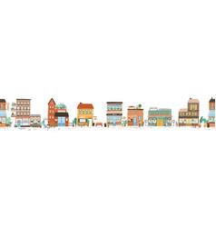 urban landscape or view european city street vector image