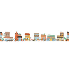 urban landscape or view of european city street vector image