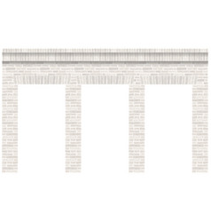 Vintage arcade of the masonry wall and facade vector