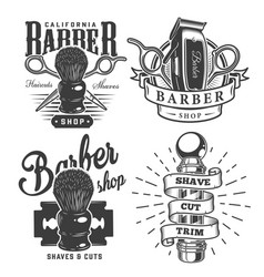 Vintage barbershop prints vector
