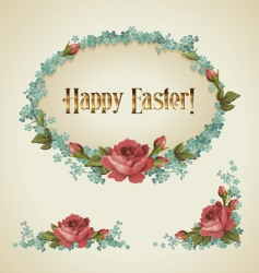 Vintage easter label vector
