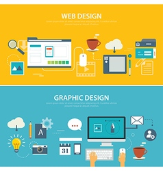 Web and graphic banner flat design vector