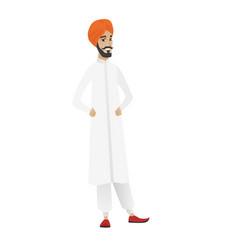 Young hindu confident businessman vector