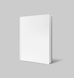 Blank book cover over gray background vector image
