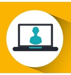 cloud computing character social media virtual vector image