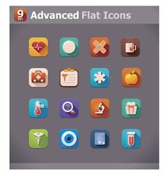Flat medicine icons vector