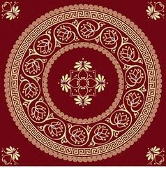 golden round Greek ornament Meander vector image vector image