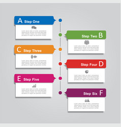 infographic report template with place for data vector image vector image