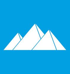pyramids in giza icon white vector image vector image