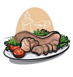 veal tongue vector image vector image