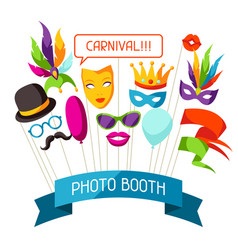 carnival photo booth props accessories for vector image