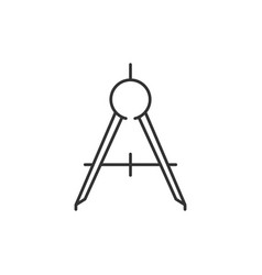 compass tool outline icon vector image