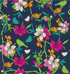 flower patter vector image
