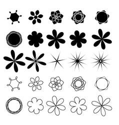 flower set image vector image vector image
