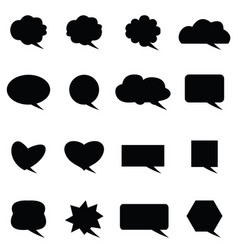speech bubble icon set vector image