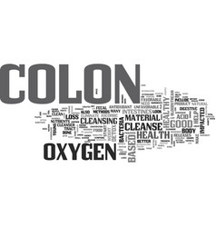 A colon detox can improve your colon health text vector