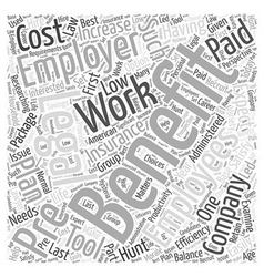 Benefits of Prepaid Plans for Your Company Word vector image vector image