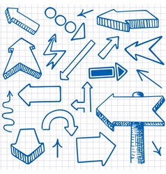 doodle arrows seamless backgr vector image vector image