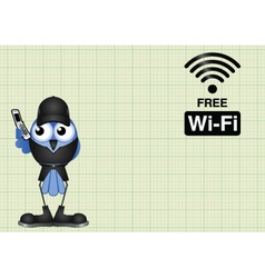 Free wifi connection vector