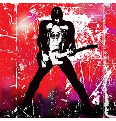 guitarista vector image vector image