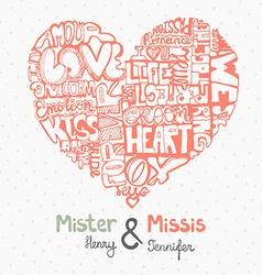 HeartWords8 vector image