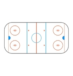 Hockey arena for design vector image