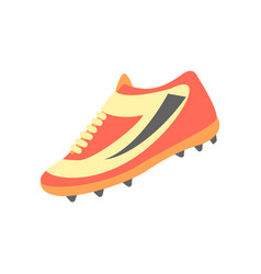 One training shoe part of american football vector