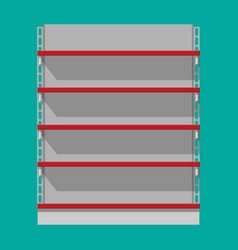 retail plastic shelves in front view for products vector image