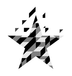 abstract geometric star isolated on white vector image vector image