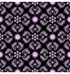 black seamless vintage pattern vector image vector image