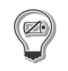 bulb battery recharge design vector image