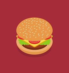 Burger isometric style vector image vector image