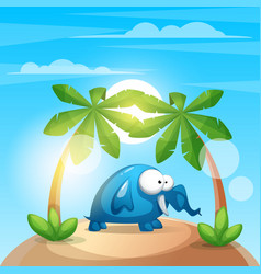 cute funny elephant - cartoon charater vector image vector image