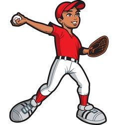 Ethnic Baseball Pitcher vector image