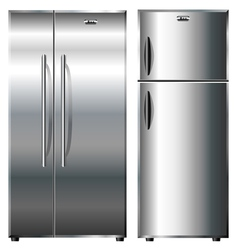 Metallic refrigerators vector image