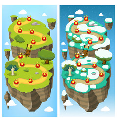 Mobile Game Level Map Concept vector image vector image