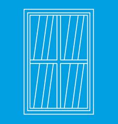White rectangle window icon outline vector