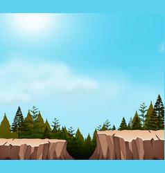 A nature cliff scene vector
