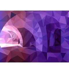 abstract blue and violet triangular background vector image