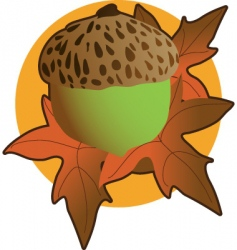 acorn graphic vector image